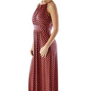 Loft Chevron Maxi Dress Size L
